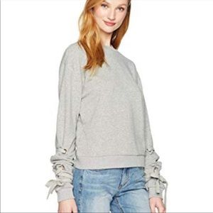 Luca Audrey Lace Up Sleeve Sweater